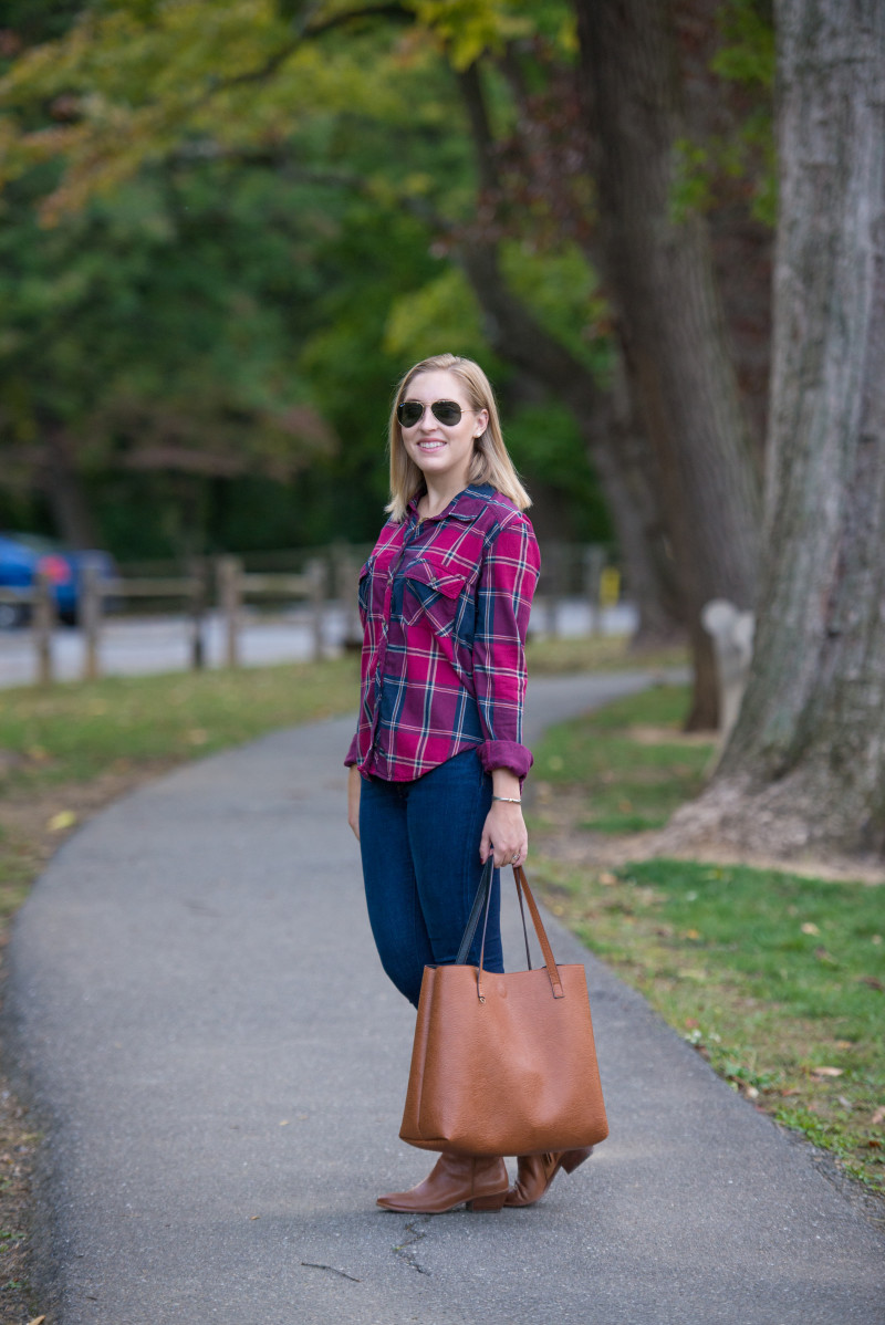 Abercrombie & Fitch Flap Pocket Plaid Shirt