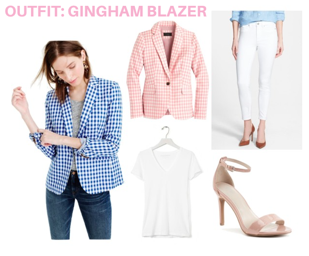 Outfit 1: Gingham Blazer