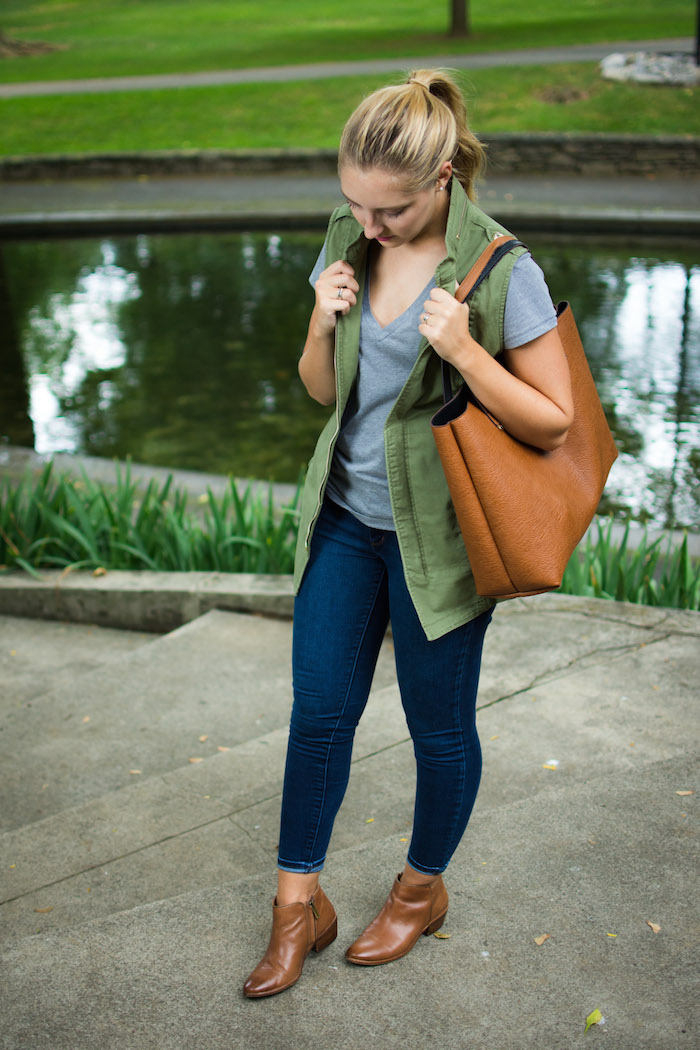 Cabi Army Green Vest