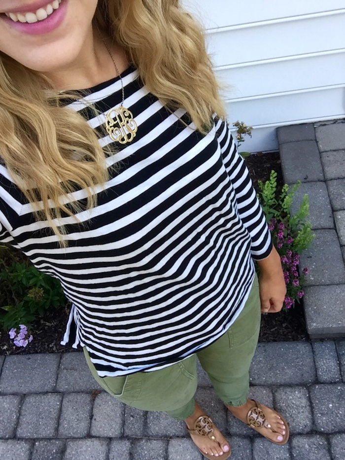J.Crew Striped Boatneck Shirt