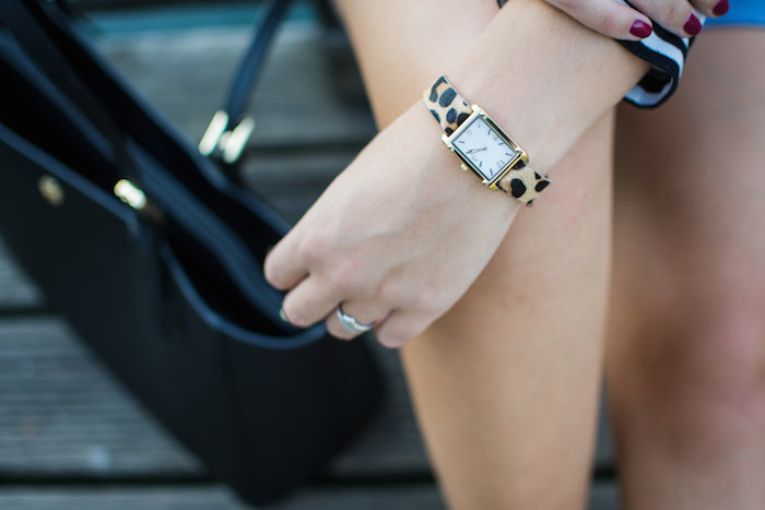 Stella & Dot Leopard Pyramid Watch