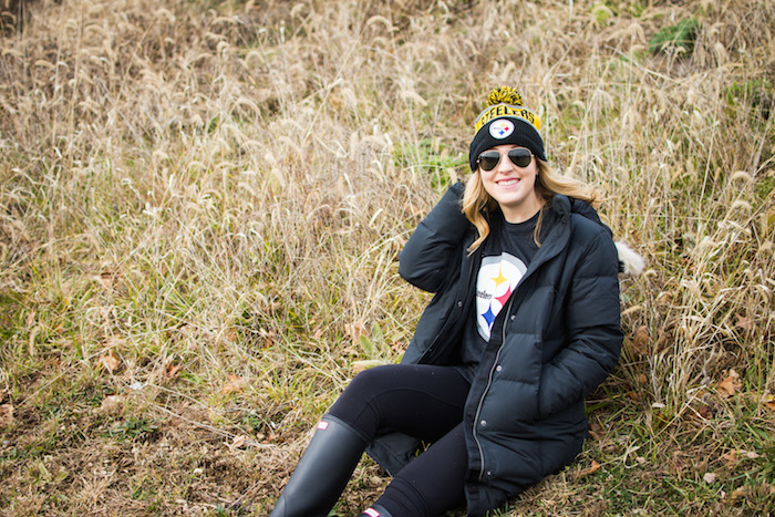 Steelers T Shirt and Beanie