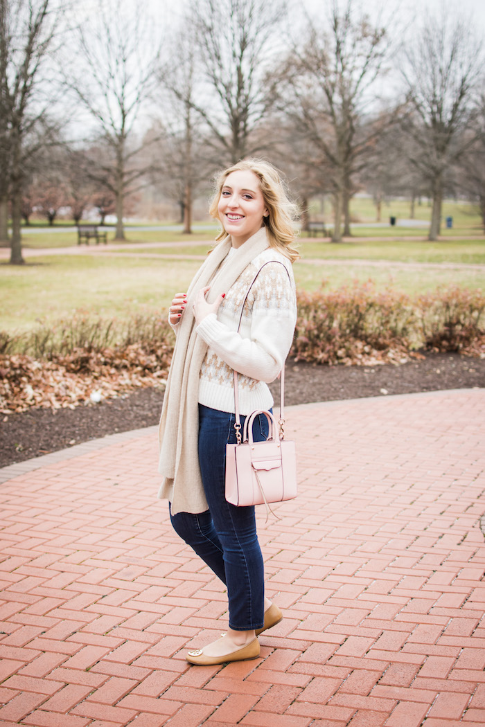Club Monaco Fair Isle Sweater | A Pop of Pink