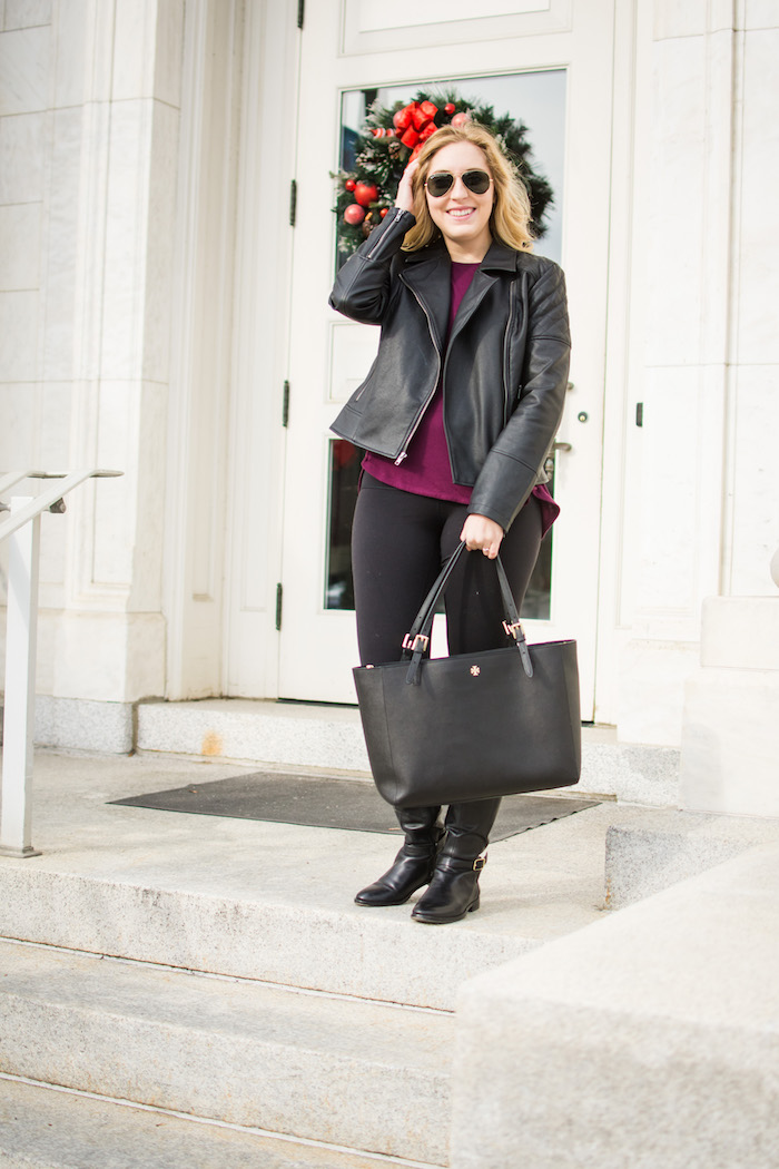Cupcakes and Cashmere Breck Faux Leather Jacket