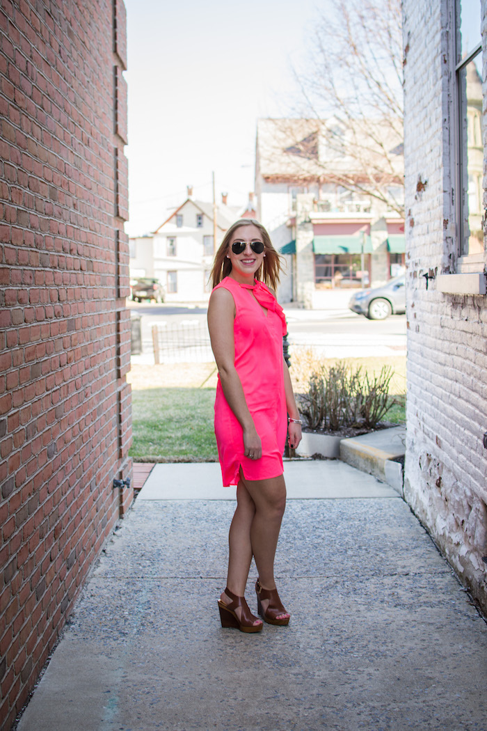 Neon pink dress for warm weather destinations a pop of pink for Warm weather vacations in february