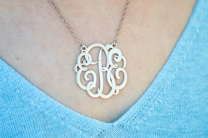 Baublebar Monogrammed Necklace
