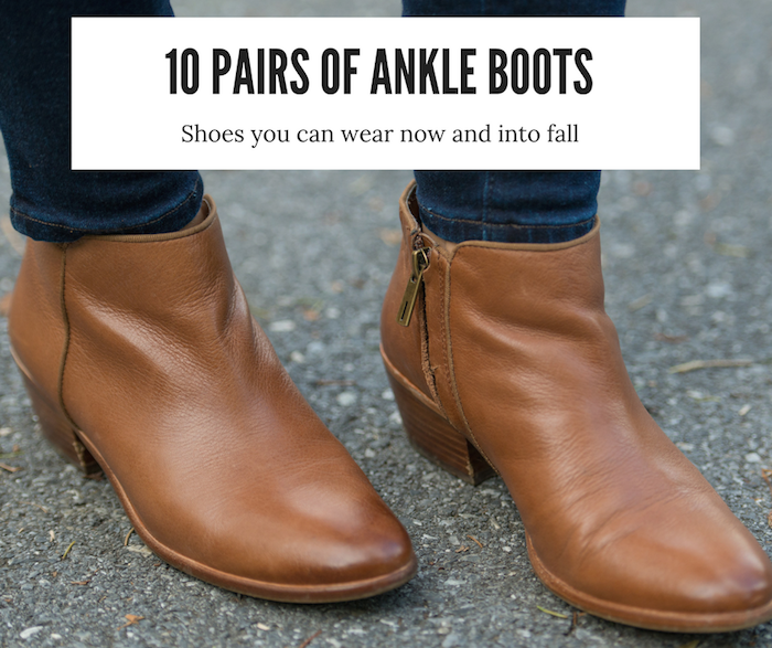 Ankle Boots for Summer and Fall