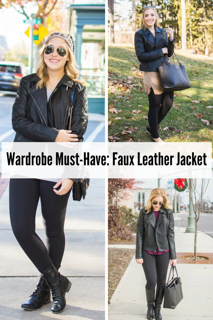 Wardrobe Must-Have Faux Leather Jacket
