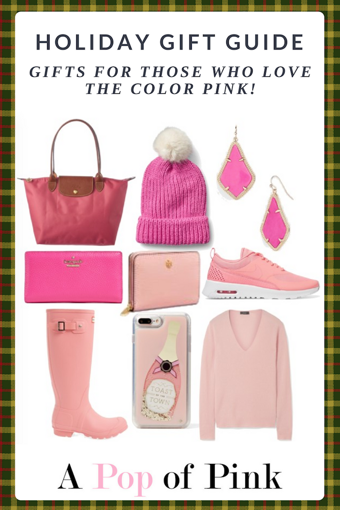 Holiday Gift Guide - Gifts for the Pink Lover