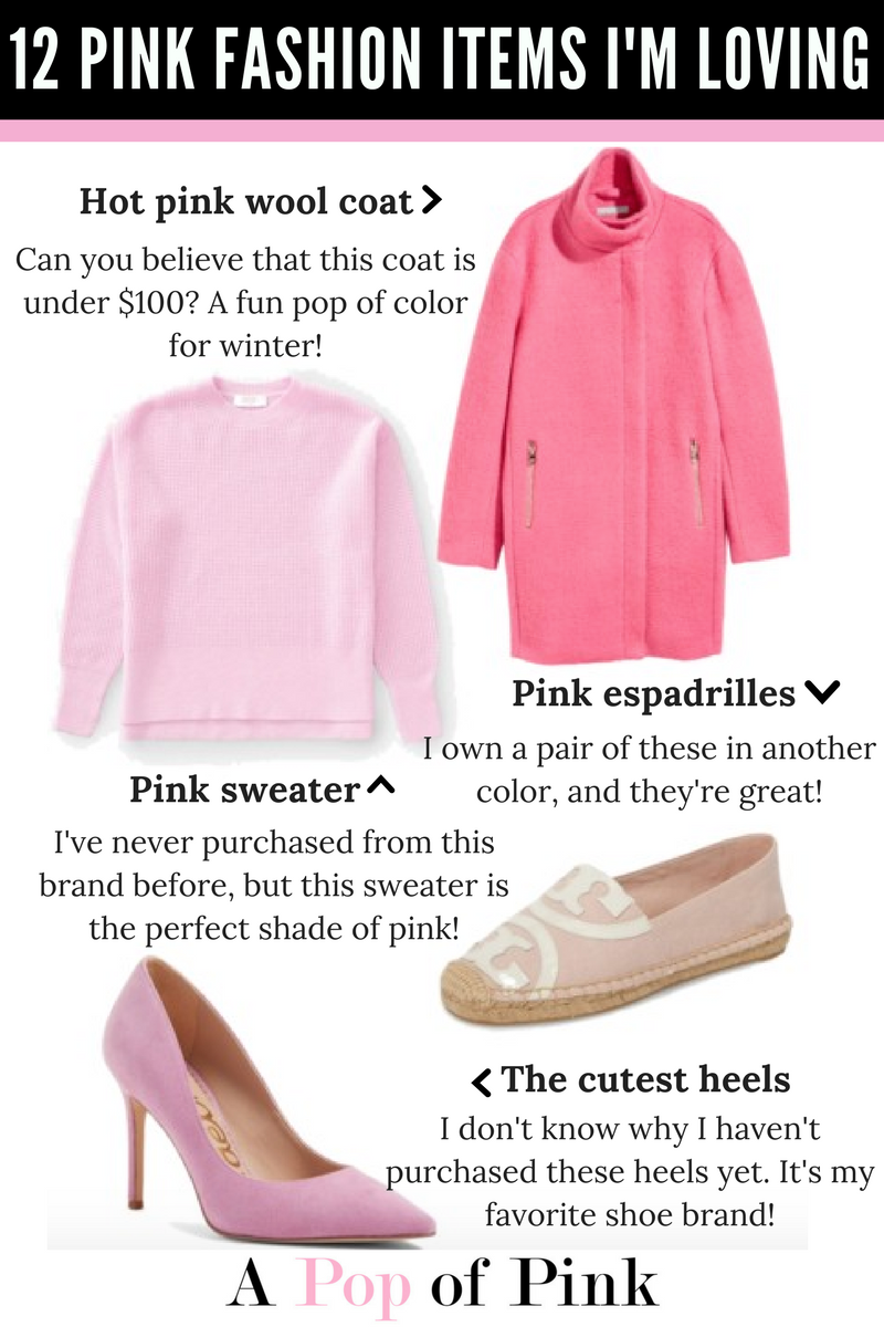 12 Pink Fashion Items I'm Loving
