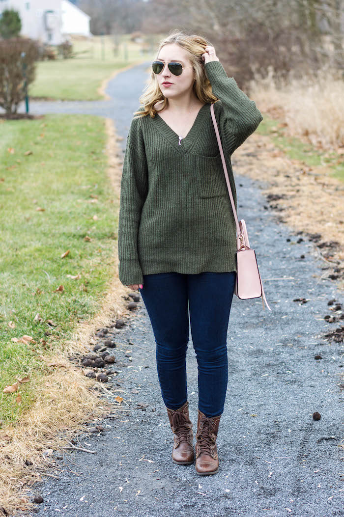 Sanctuary Army Green Sweater-