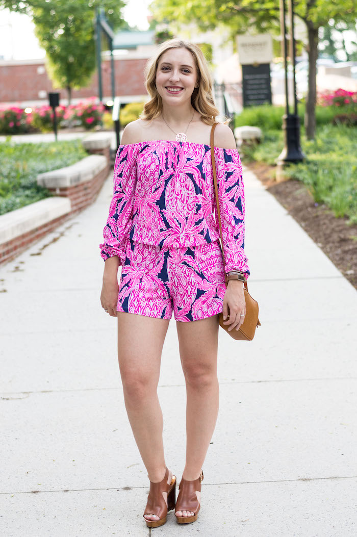 6b2feee2ddf4 Date Night Look  Lilly Pulitzer Romper